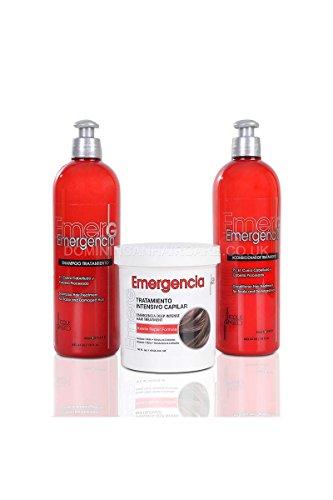 Toque Magico Emergencia Champú de queratina, acondicionador de queratina y máscara de queratina, 453 ml cada uno