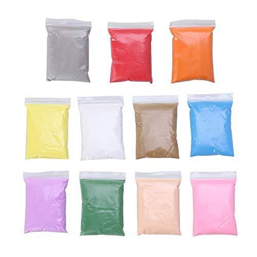 Supvox 10 Packs Farbiger Sand für Sand Kunsthandwerk, Dekorativer Sand für Terrarien Sandgemälde Wunschflaschen (100g / Pack)