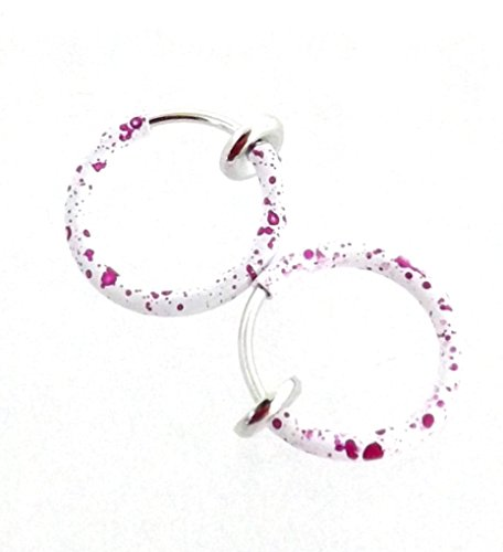1 paar nep-piercing clip-on ring septum neus oorbel 316L chirurgisch staal kleurrijk gecoat - kleurkeuze