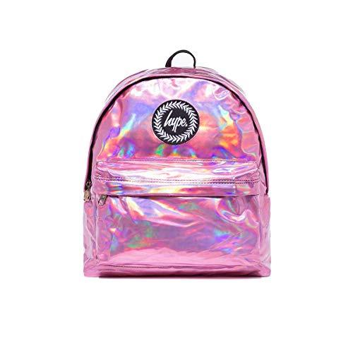 hype Pink Holographic, Unisex-Erwachsene Rucksack, Pink, One Size