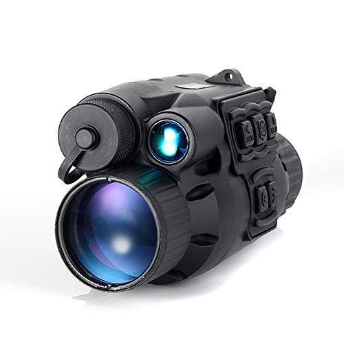 SIRUL Nachtsicht-Monokular, Nachtsicht-HD 720P-Infrarot Fernrohr IR-LED-Licht-Monokular-Teleskop 3x28 Zoom-Aufzeichnung Tag und Nacht CCD-Digitalfernrohr verwenden