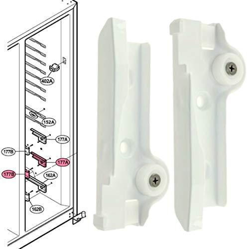 Rieles guías intermedios cajón frigorífico Lg GRL2375ECX GRL2376ECPR GRL2376EXR GRL2378ECP GRL2378ECPF GRP2065TLQA