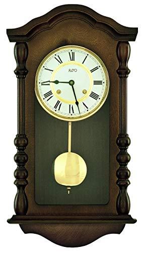 Zeit.Punkt Burgdorf 345414 - Reloj de pared con péndulo, fabricado en Alemania, torneado, con dibujo de bádminton y melodía Westminster