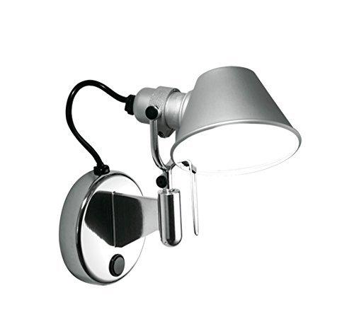 Artemide Tolomeo Micro Faretto wandlamp, aluminium, zonder schakelaar