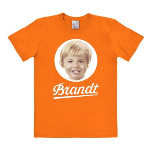 Logoshirt Brandt T-Shirt - Brandt Zwieback Logo T-Shirt - Rundhals T-Shirt orange - Lizenziertes Originaldesign, Größe M