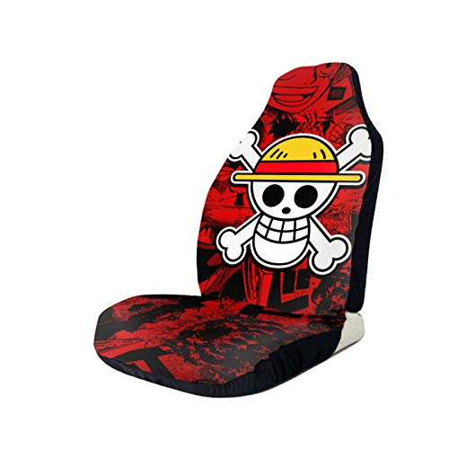 Aoocasi One Piece Luffy Roronoa Zoro Anime Universal Fit Decorative Car Seat Covers Auto Front Seat Protector Mat Auto Accessories for Vehicles Cars, Suvs, Vans, Airbag Compatiable