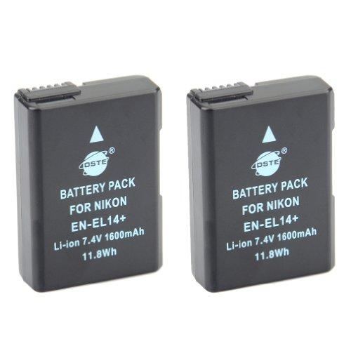 DSTE? 2x EN-EL14 Ricaricabile Li-ion Batteria per Nikon Coolpix P7000 P7100 P7700 P7800 D3100 D3200 D3300 D5100 D5200 D5300 Macchina Fotografica come EN-EL14A