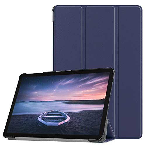 ZHIWEI Tablet PC Tasche for Samsung Galaxy Tab S4 10,5 Zoll T830 / T835. Tablet-Gehäuse Leichtgewichtiger Trifold-Stand PC. Hard Back Coverwith Trifold & Auto Wake, Schlaf (Color : Blue)