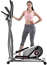 BEW Elliptical Machine Trainer, Eliptical Exercise Machine for Home Use, with Front Flywheel, LCD Monitor, Dual Handles, Fitness Equipment for Home Gym