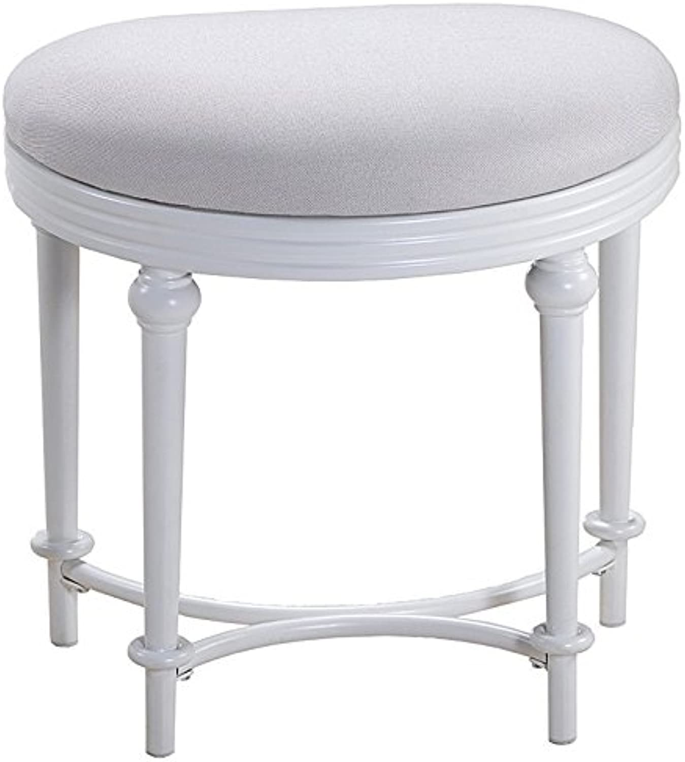 Hillsdale Cape May Vanity Stool in Matte White