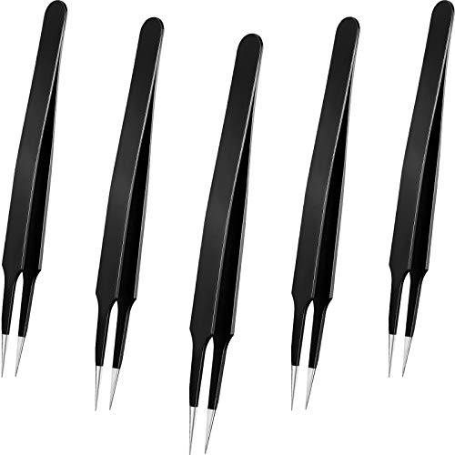 Mini Bead Tweezers Fuse Bead Tweezers Craft Beading Tweezers for Manual DIY Craft Supplies (5)