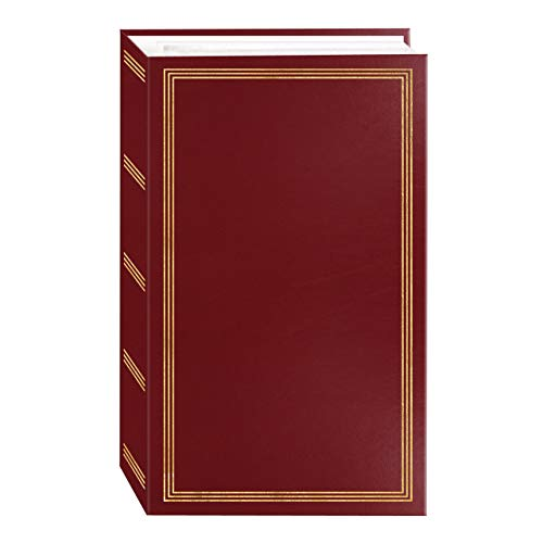 3-ring pocket BURGUNDY album for 504 photos - 4'X6'