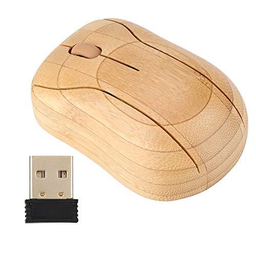 Bamboo Wireless Mouse, PC-laptop Houten muis, zacht en geluidsarm, voor Windows 95/98/2000/ME/XP/NT en andere systemen
