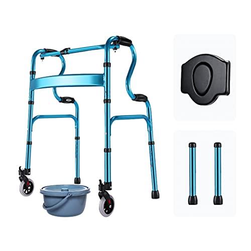 Andador Mayores,Andador para Ancianos Sin Ruedas,Plegable Movilidad Ayuda A Caminar,Andador con Asiento,Andador De Bipedestación, Padre Y Madre
