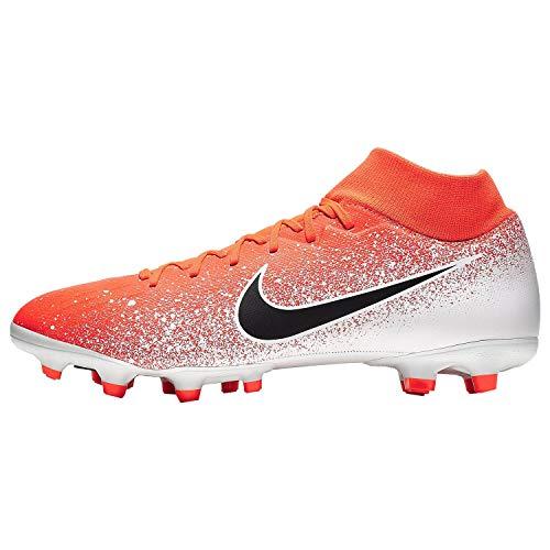 Nike Men's Superfly 6 Academy FG/MG Soccer Cleat Hyper Crimson/Black-White AH7362-801 (8 D US)