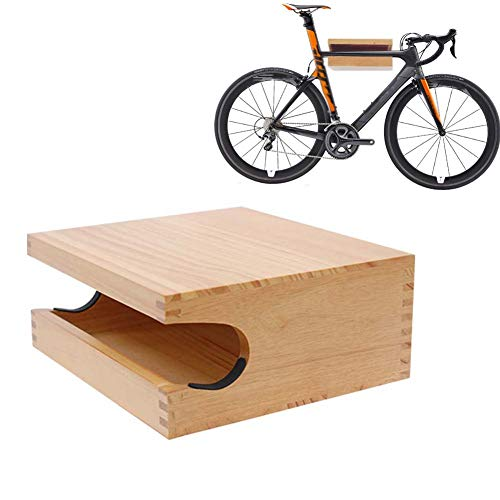 JXS Bicycle Bike Wall Mount Hanger - Made From Handmade Pine Wood - Bike Hook Holder Storage Rack for Indoor Storage