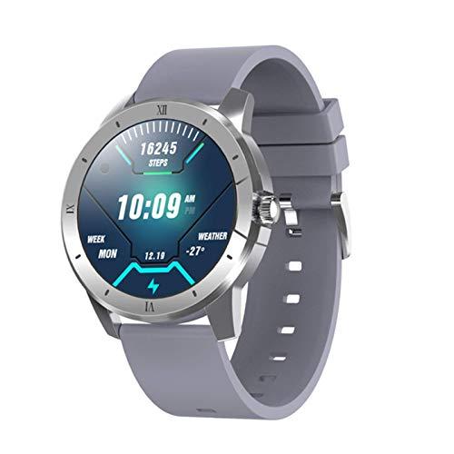ZGNB MX12 SmartWatch Masculino y Femenino Ritmo cardíaco Monitor de presión Arterial IP68 a Prueba de Agua 256m Reproductor de música, Adecuado para Android iOS Bluetooth Llamar a Smart Watch, 2021,A