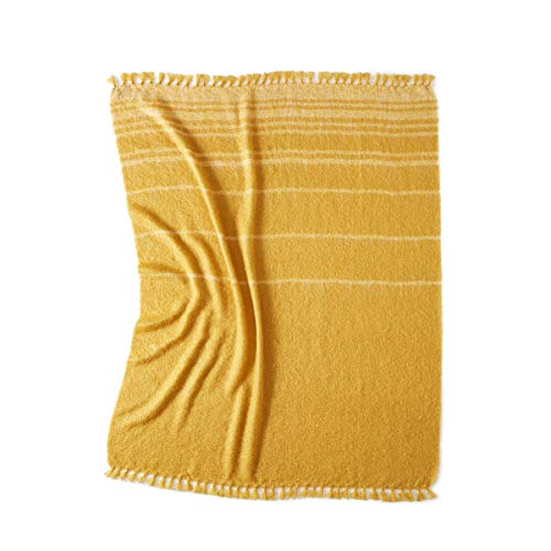 Bohcket Plaid aus Kid Mohair & Seide Golden Horizon 140x200