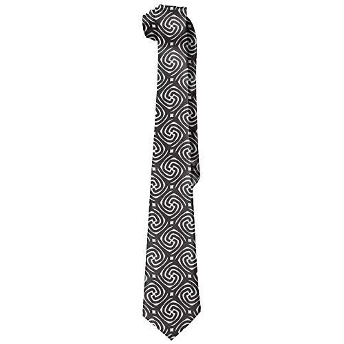 Corbatas de seda de moda para hombre de patrón retro blanco y negro Corbatas de regalo únicas