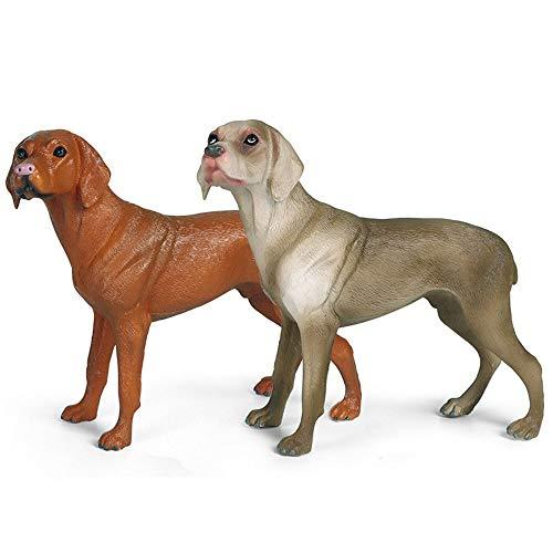 Hging Modelo de Perro Juguete Mejor en Mostrar □ Perro Weimaraner □ Modelo de figurilla de Juguete Pintado a Mano Realista, para Mayores de 3 años, niños y niñas, Mejores re