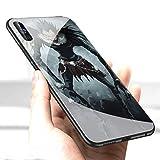 LiangChu Carcasa de telefono Funda Samsung Galaxy A50 Cover,Vidrio Templado Suave Silicona Anti-rasgu?os de Parachoques Estuche Protector LC-74 Death Note Ryuk Kira Funda