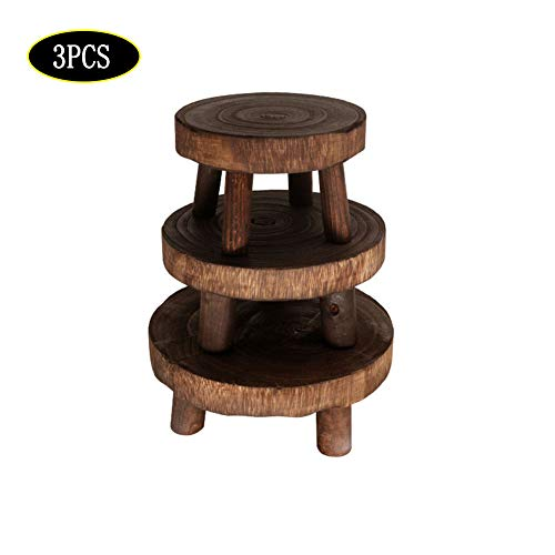 DAMEING Modern Plant Holder Stand Wood Plant Stand Mid-Century Flower Pot Stand Indoor Outdoor