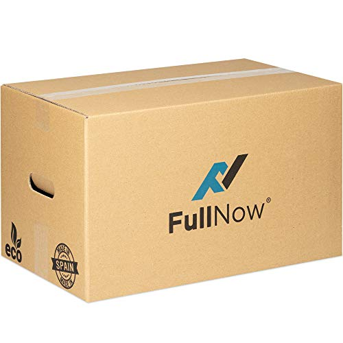 FULLNOW Pack 10 Cajas Cartón Grandes Asas Mudanza