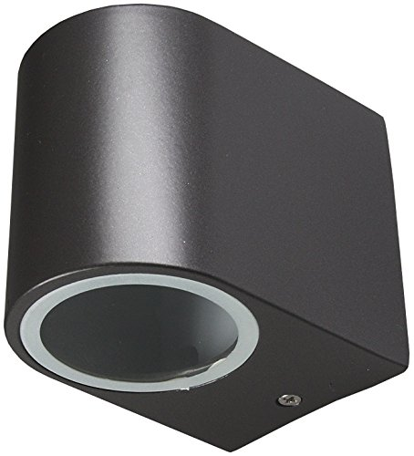 Wandleuchte IP44 Für Innen & Aussen GU10 Fassung IP44 I LED geeignet I 230V Anthrazit
