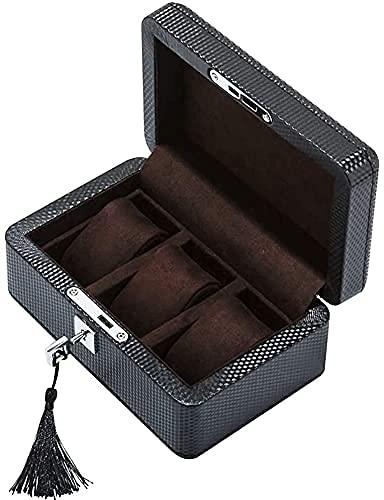 Caja de almacenamiento Caja de reloj de cuero,soporte de exhibición Juego de caja Caja de almacenamiento para relojes de joyería,caja de colección de pulseras Caja de presentación de reloj de 3