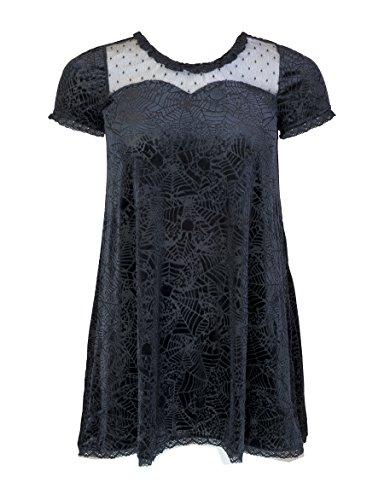 Iron Fist Cave Creeps Sweetheart Dress - Black Medium
