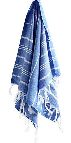 Cacala Pure Serie Turco Toallas de Mano de, algodón, Night Blue, 59 x 92 x 0.5 cm