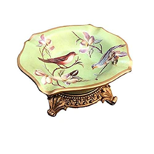 LILICEN Cenicero, La Caja de almacenaje del hogar del Arte Decoraciones del Arte Retro práctica salón cenicero de cerámica Sencilla Estudio