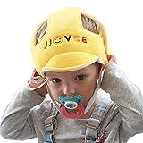 Eyand Casco di sicurezza per bambini - Cappello per casco di sicurezza regolabile per bambino, Cappello di protezione per la testa per camminare strisciando (giallo)