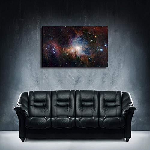 zhouyiz Pinturas de Lienzo Decoración para el hogar 1 Pieza Constelación de Orión Nebulosa Cartel Impresiones de Dormitorio Resumen Cielo Estrellado Imágenes Marco de Arte de Pared