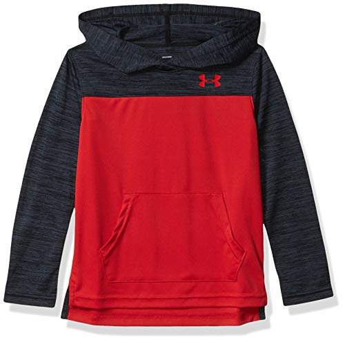 Under Armour Boys' Big Active Hoodie, Red H19, 5