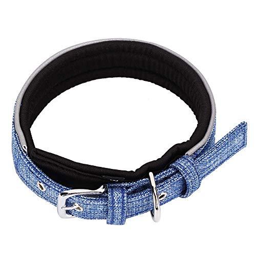 Arnés para Perros Collar Reflectante 3M Portátil Y Ajustable para Paseos Al Aire Libre Forro Suave Y Cómodo para Mascotas Azul Talla: M.