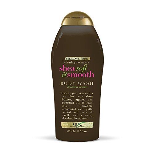 OGX Hydrating Moisture + Shea Soft & Smooth Body Wash, Coconut, 19.5 Fl Oz