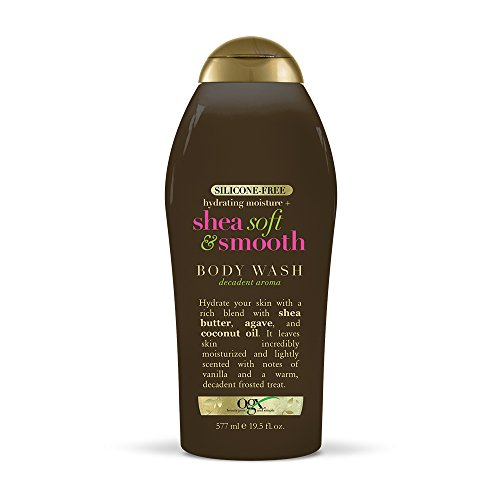 OGX Hydrating Moisture + Shea Soft & Smooth Body Wash, 19.5 Ounces (022796924254)