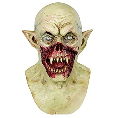 Molezu Vampire Mask Scary Dracula Monster Halloween Costume Party Horror Demon Zombie (earthy yellow) (A) from