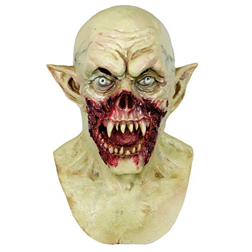 molezu Vampire Mask Scary Kurten Monster Mask Halloween Costume Party Demon Zombie Mask for Cosplay Props