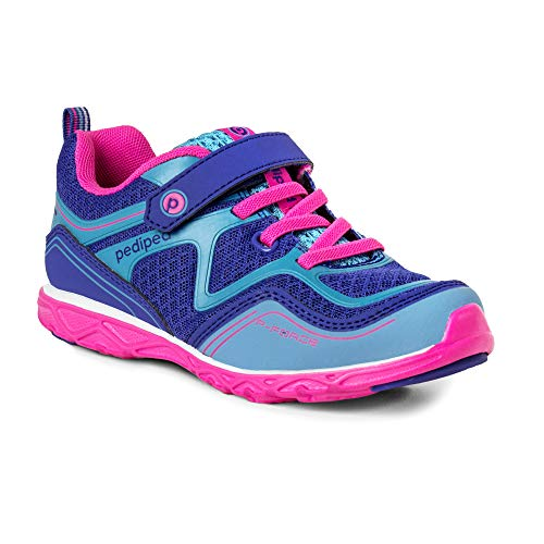 pediped Mädchen Force Sneaker, Blau (Navy Fuschia Nvfs), 24 EU