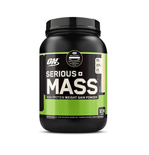 Optimum Nutrition (ON) Serious Mass Weight Gainer Protein Powder - 3 lbs, 1.36 kg (Vanilla)