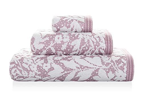 Matiss Serviette de Bain Rose/Blanc 70 x 140 cm