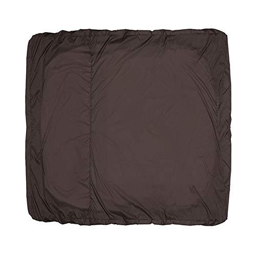 Happymore Funda protectora grande para jaula de pájaros, a prueba de polvo, impermeable, ligera, sólida, antiUV, duradera, gruesa, cremallera gruesa (marrón)