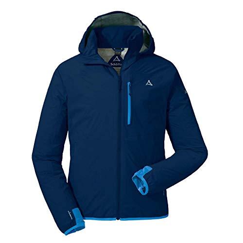 Schöffel Herren Jacket Toronto4 wind- und wasserdichte Herren Jacke mit verstaubarer Kapuze, atmungsaktive und verstaubare Hardshelljacke für Männer , dress blues, 54