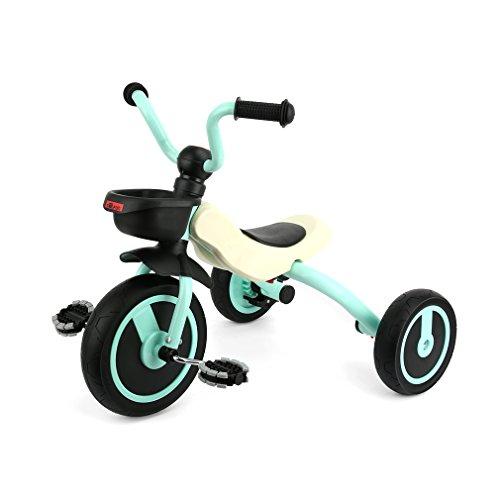Fascol GOSFUN Triciclo Bebe Evolutivo para Niños de 2 - 5 Años, Trike Bicicleta Plegable con Ruedas de Gomas y Conducción Silenciosa (Tamaño del Cuerpo 90-120CM) (Azul Claro)