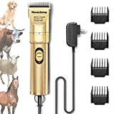 HavenJanny Dog Clippers 12V High Power, Plug-in Dog Hair Trimmer Set, Professional Pet Grooming Clippers for Medium Large Cat Dog Sheep Animal