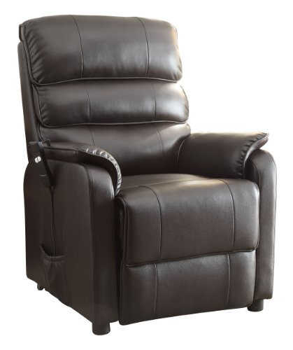 Kellen Power Lift Bonded Leather Recliner by Homeglance