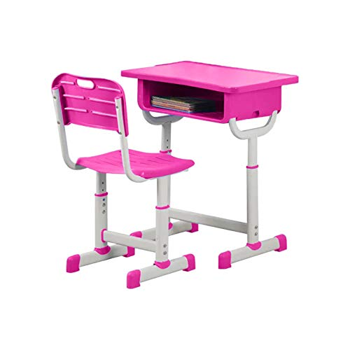Kids Study Desk Children's Multifunctional Desk and Chair Set, Study Table Chair Combination Height Adjustable Ergonomic Study Desk, Prevent Hunchback, Writing & Drawing, Suitable for School, Bedroom