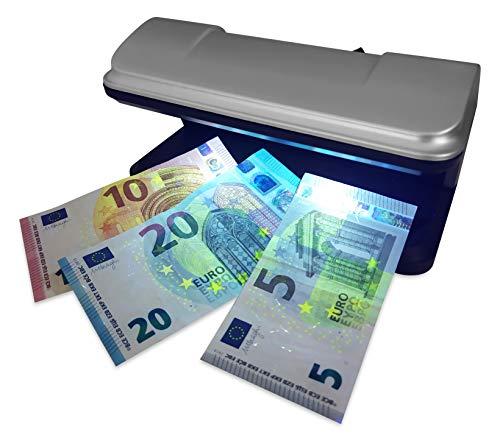 DIVADIS Detector de Billetes Falsos con Luz UV LED Ultravioleta Portátil, Verificación de Documentos de Identidad DNI Pasaporte y Tarjetas de Pago Crédito Débito